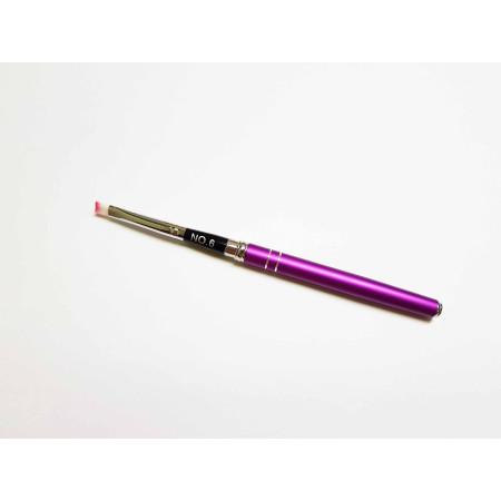 Štetec na gélovú medódu skladací č.6 fialový NechtovyRAJ.sk - Daj svojim nechtom všetko, čo potrebujú