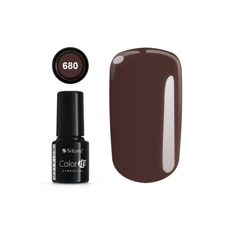Gél lak Color IT Premium 680 6 ml Hnedá