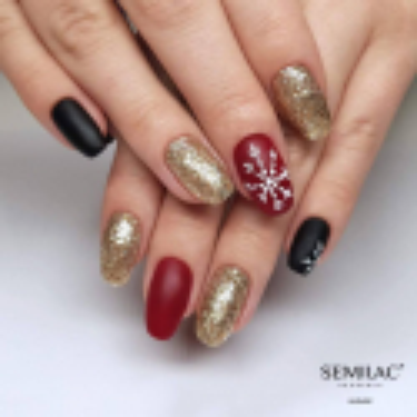 Semilac vianočná štylizácia 01