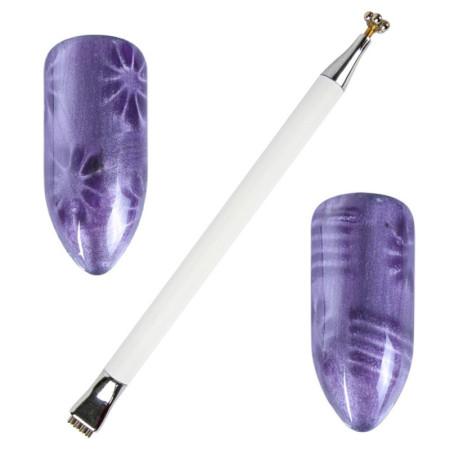 Obojstranné magnetické pero biele NechtovyRAJ.sk - Daj svojim nechtom všetko, čo potrebujú