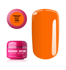Silcare Base one neonový uv gél 02 ORANGE 5g