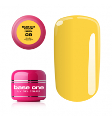 Silcare Base one neonový uv gél 09 Dark Yellow 5g