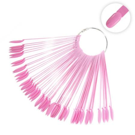 Vzorkovník na nechty ružový - 50 ks NechtovyRAJ.sk - Daj svojim nechtom všetko, čo potrebujú