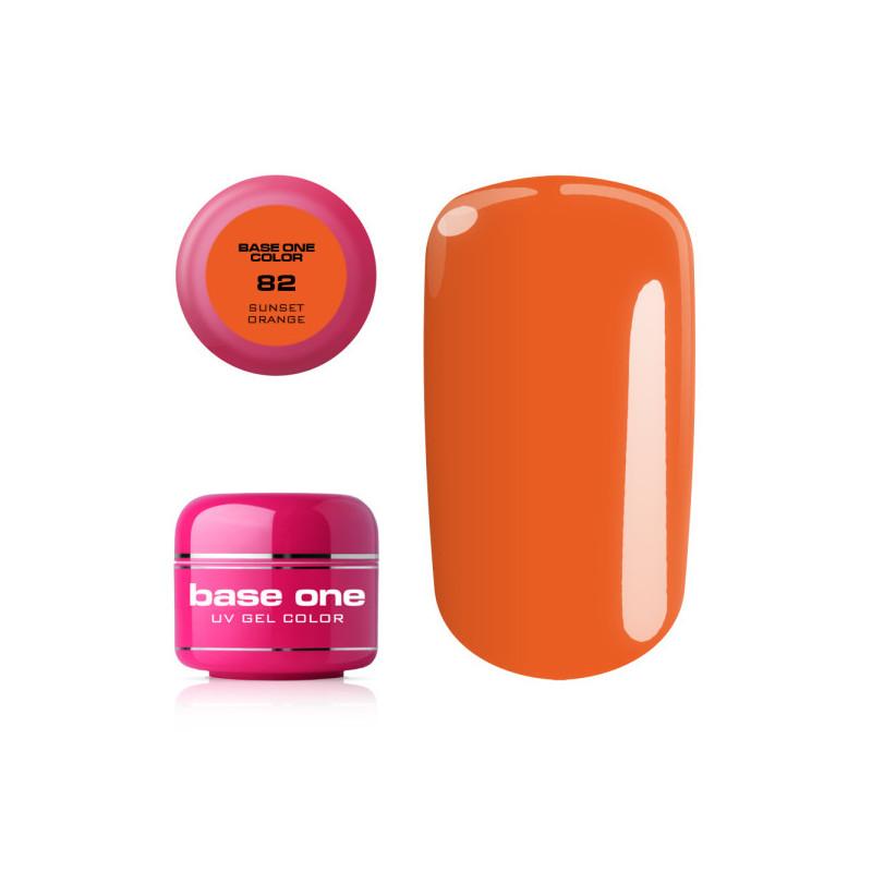 Base one farebný gel Sunset orange 82 NechtovyRAJ.sk - Daj svojim nechtom všetko, čo potrebujú