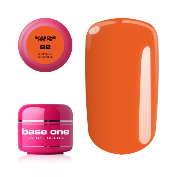Base one farebný gel Sunset orange 82