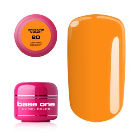 Mega ponuka - Base one farebný gel Orange Sorbet 80 NechtovyRAJ.sk - Daj svojim nechtom všetko, čo potrebujú
