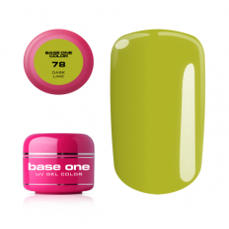 Base one farebný gel Dark lime 78 NechtovyRAJ.sk - Daj svojim nechtom všetko, čo potrebujú