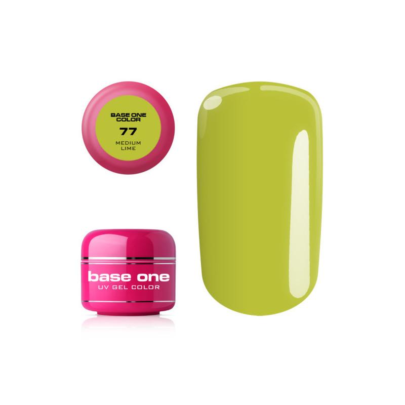 Base one farebný gel Medium lime 77 NechtovyRAJ.sk - Daj svojim nechtom všetko, čo potrebujú