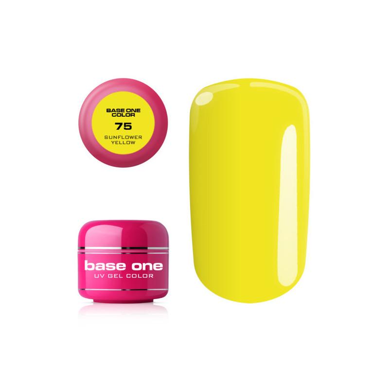 Base one farebný gel Sunflower yellow 75 NechtovyRAJ.sk - Daj svojim nechtom všetko, čo potrebujú
