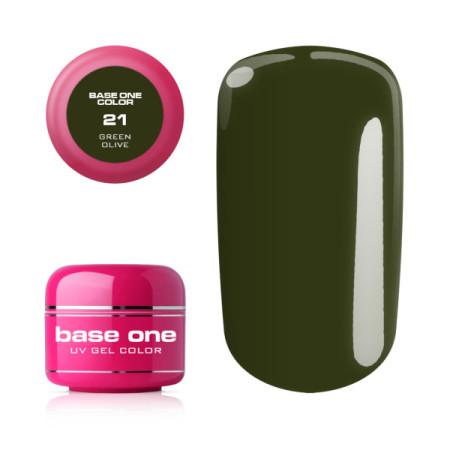 Base one gél Green olive 21 5g NechtovyRAJ.sk - Daj svojim nechtom všetko, čo potrebujú
