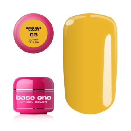 Base one farebný gél sunny yellow 03 5g NechtovyRAJ.sk - Daj svojim nechtom všetko, čo potrebujú
