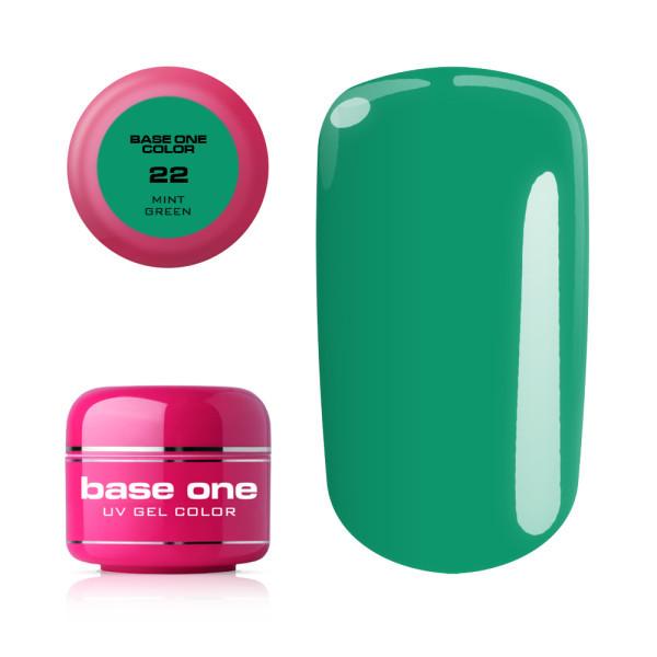 Base one farebný gél - 22 Mint green 5g NechtovyRAJ.sk - Daj svojim nechtom všetko, čo potrebujú