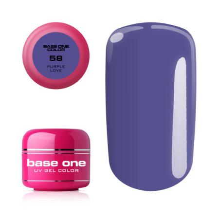 Base one farebný gél - 58 Purple Love 5g NechtovyRAJ.sk - Daj svojim nechtom všetko, čo potrebujú