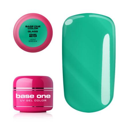 Base one farebný gél Glass 25 Leaf green 5g NechtovyRAJ.sk - Daj svojim nechtom všetko, čo potrebujú
