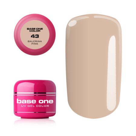Base one farebný gél 43 Balerina Pink 5g NechtovyRAJ.sk - Daj svojim nechtom všetko, čo potrebujú
