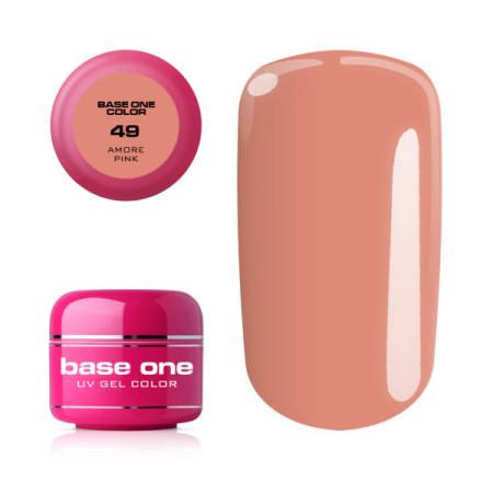 Uv farebný gél Base one - č.49 amore pink 5g NechtovyRAJ.sk - Daj svojim nechtom všetko, čo potrebujú