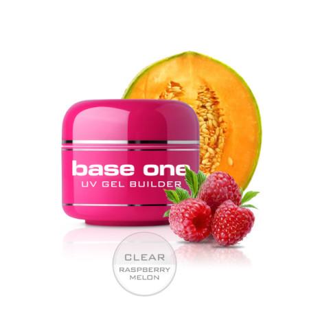 Base one UV gél Clear 15g - Raspberry melon