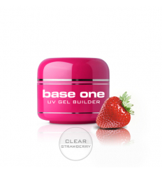 Base one UV gél Clear 15g - Strawberry