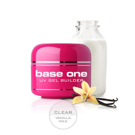 Base one UV gél Clear 50 g - Vanilla milk