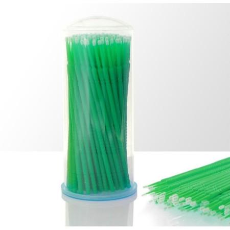 Mikro kefky na mihalnice zelené 100 ks NechtovyRAJ.sk - Daj svojim nechtom všetko, čo potrebujú