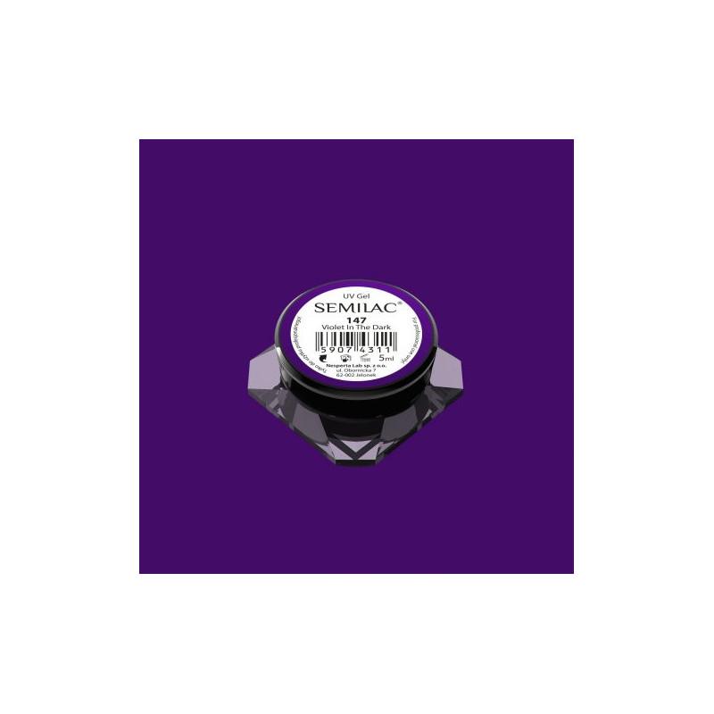 Semilac farebný uv gél 147 Violet In The Dark 5ml Fialová
