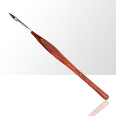 Štetec na akryl č. 4 - lakované drevo - ergonom. NechtovyRAJ.sk - Daj svojim nechtom všetko, čo potrebujú