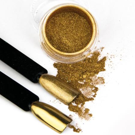 Pigmentový prášok Glass Golden NechtovyRAJ.sk - Daj svojim nechtom všetko, čo potrebujú
