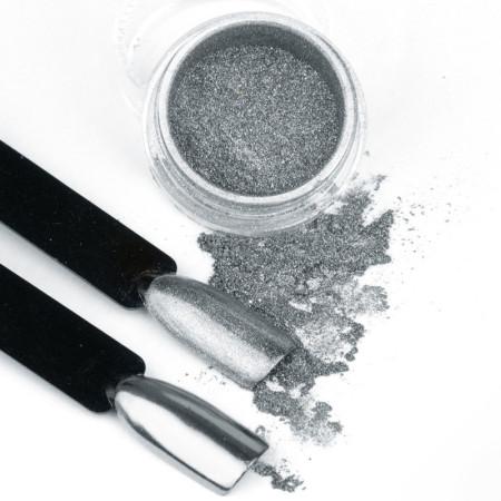 Pigmentový prášok Glass Silver NechtovyRAJ.sk - Daj svojim nechtom všetko, čo potrebujú