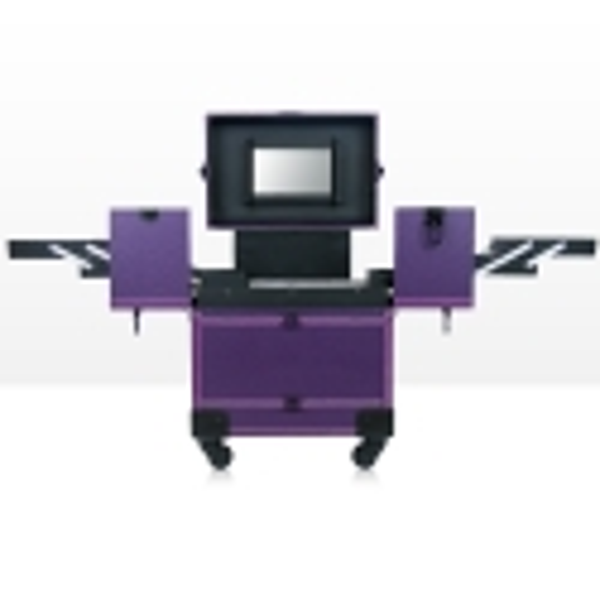 Kozmetický kufrík Lux fialový 01