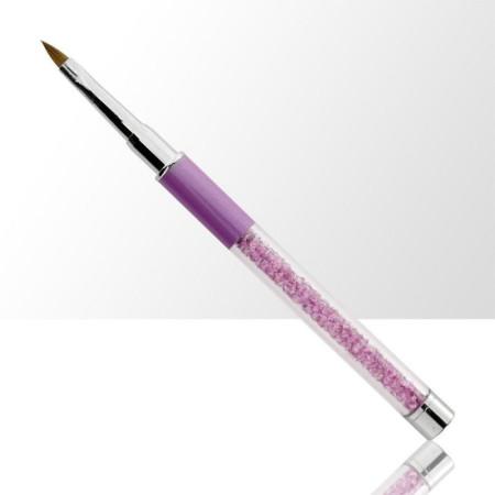 Štetec na akryl č. 2 fialový, s prírodnými štetinami NechtovyRAJ.sk - Daj svojim nechtom všetko, čo potrebujú