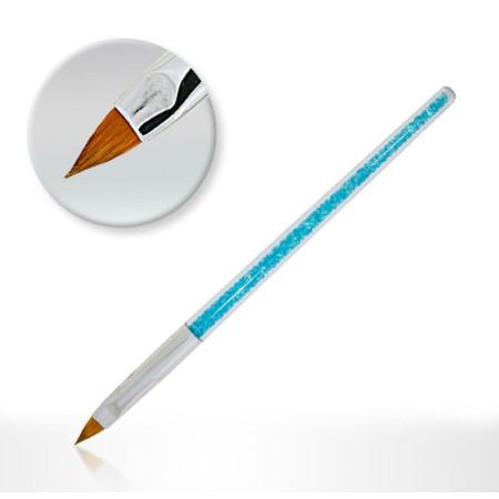Štetec na akryl s modrými zirkónmi č.2 NechtovyRAJ.sk - Daj svojim nechtom všetko, čo potrebujú