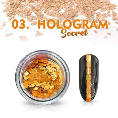 Hologram Secret 03 - oranžové NechtovyRAJ.sk - Daj svojim nechtom všetko, čo potrebujú