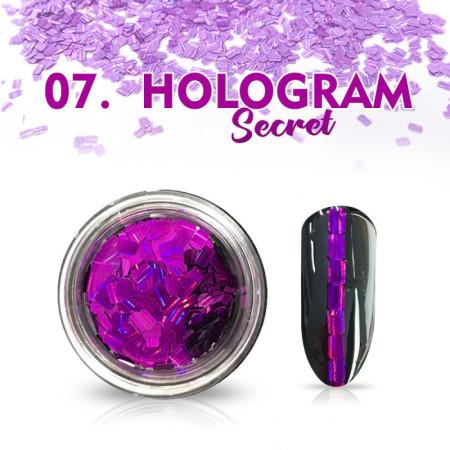 Hologram Secret 07 - fialové NechtovyRAJ.sk - Daj svojim nechtom všetko, čo potrebujú