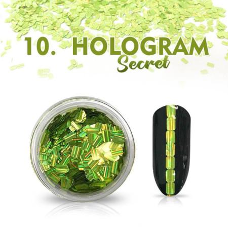 Hologram Secret 10 - zelené NechtovyRAJ.sk - Daj svojim nechtom všetko, čo potrebujú