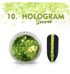 Hologram Secret 10 - zelené