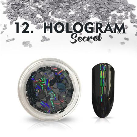 Hologram Secret 12 - čierne