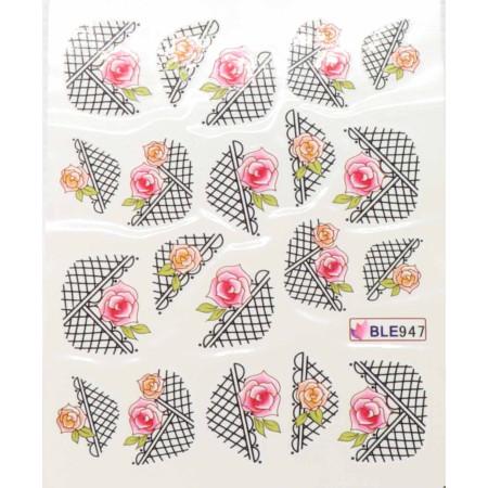 Vodolepky na nechty košík s kvetmi 947 NechtovyRAJ.sk - Daj svojim nechtom všetko, čo potrebujú