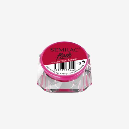 SemiFlash Neon effect red 677 NechtovyRAJ.sk - Daj svojim nechtom všetko, čo potrebujú