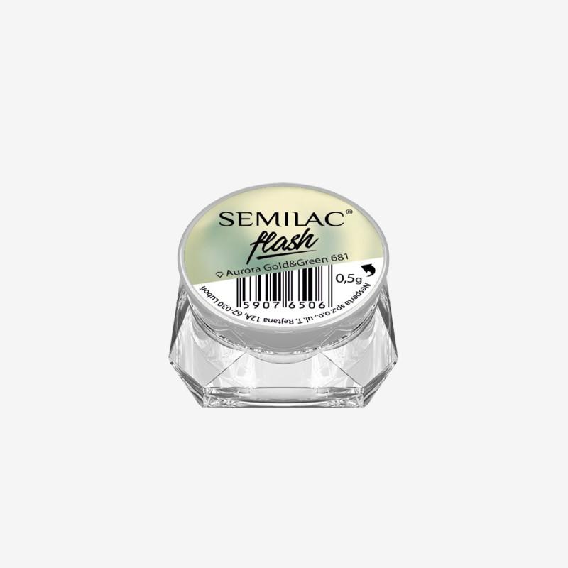 SemiFlash Aurora gold green 681 NechtovyRAJ.sk - Daj svojim nechtom všetko, čo potrebujú