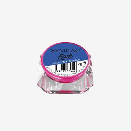 SemiFlash Neon effect Blue 680 NechtovyRAJ.sk - Daj svojim nechtom všetko, čo potrebujú