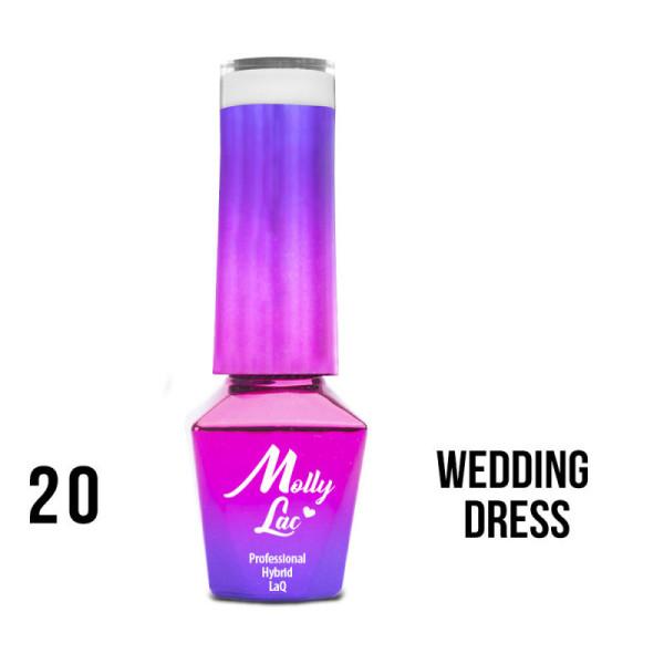 20. MOLLY LAC gél lak - WEDDING DRESS 5ML NechtovyRAJ.sk - Daj svojim nechtom všetko, čo potrebujú