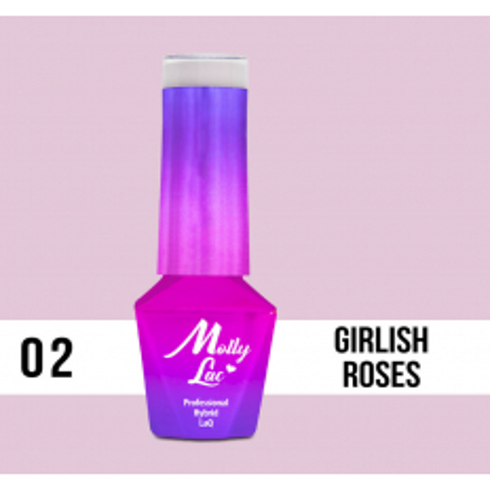 02. MOLLY LAC gél lak - GIRLIS ROSES 5ML
