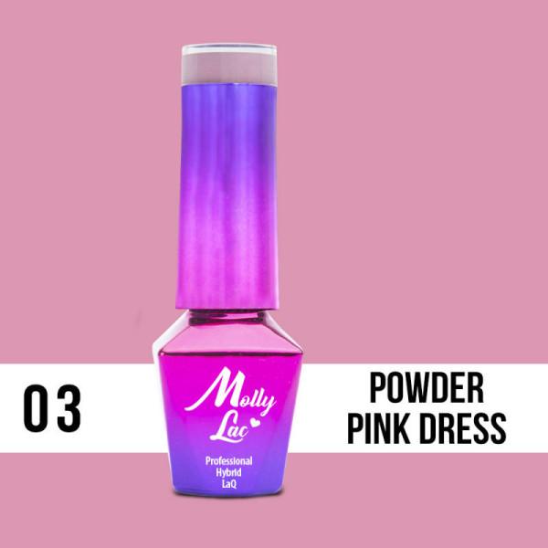 03. MOLLY LAC gél lak - POWDER PINK 5ML