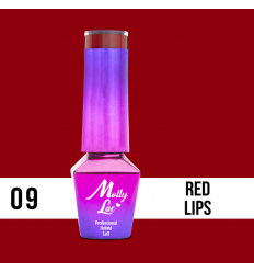 09. MOLLY LAC gél lak -RED LIPS 5ML