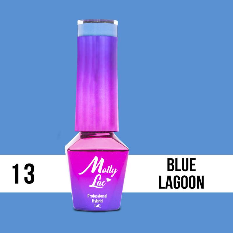13. MOLLY LAC gél lak -Blue Lagoon 5ML NechtovyRAJ.sk - Daj svojim nechtom všetko, čo potrebujú