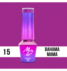 15. MOLLY LAC gél lak -Bahama Mama 5ML