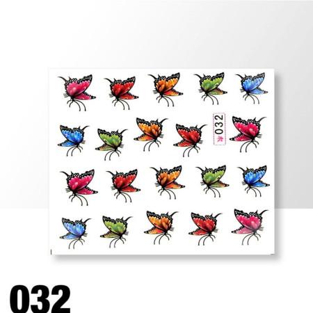 Vodonálepky motýle 032 NechtovyRAJ.sk - Daj svojim nechtom všetko, čo potrebujú