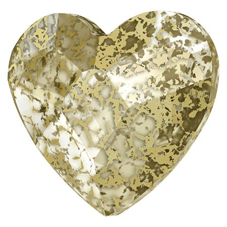 Swarovski srdce Gold Patina 6 mm NechtovyRAJ.sk - Daj svojim nechtom všetko, čo potrebujú