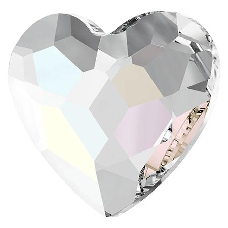 Swarovski srdce Crystal Aurora 6 mm
