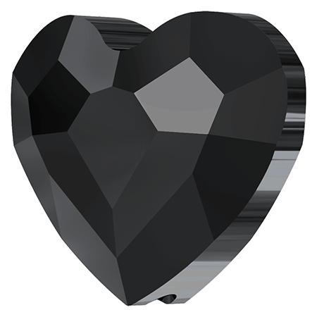 Swarovski srdce Jet 6 mm NechtovyRAJ.sk - Daj svojim nechtom všetko, čo potrebujú